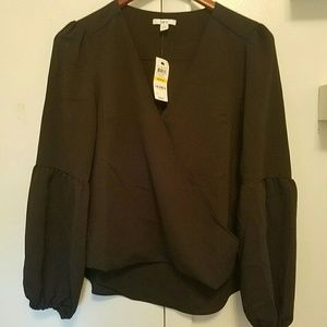 Bar III black blouse Size M